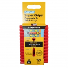 100 x Regular Duty Red Supergrips Clip Pack