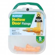 5 x Hollow Door Regular Duty Fixings
