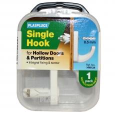 1 x Hollow Door Single Fixing Hook