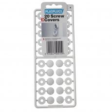 20 Screw Covers White