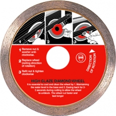 80mm High Glaze Diamond Wheel Cutting Blade