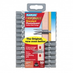 50 x Originals Plasterboard Fixings Clip Pack