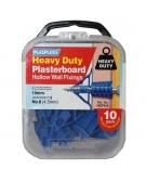 10 x Heavy Duty Plasterboard Fixings