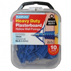 10 x Heavy Duty Plasterboard Fixings