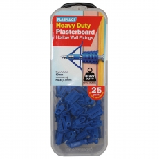 25 x Heavy Duty Plasterboard Fixings