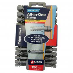 156 x All-in-One Multipurpose Fixings Clip Pack