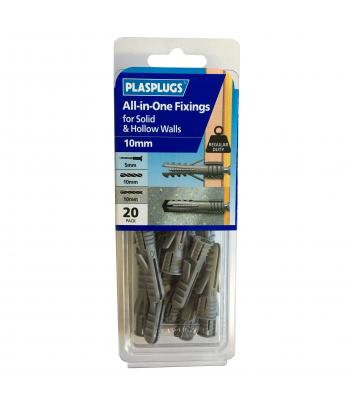 20 x  10mm All-in-One Multipurpose Fixings