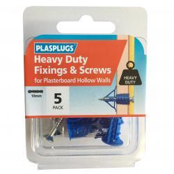 5 x Heavy Duty Plasterboard Fixings