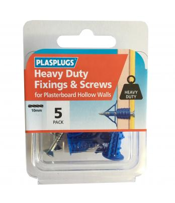 5 x Heavy Duty Plasterboard Fixings