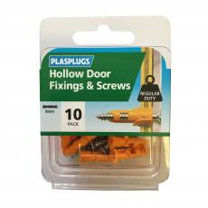 10 x Hollow Door Regular Duty Fixings & Screws