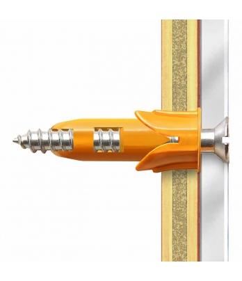 10 x Hollow Door Regular Duty Fixings & Screws