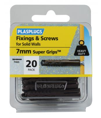 20 x Heavy Duty Brown Supergrips & Screws