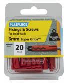 20 x Regular Duty Red Supergrips & Screws