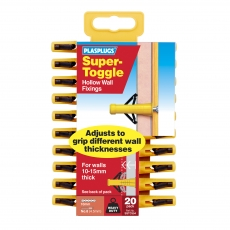 20 x Super Toggle Heavy Duty Anchors Clip Pack