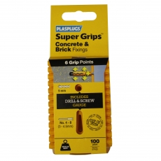 100 x Regular Duty Yellow Supergrips Clip Pack