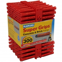 300 x Regular Duty Red Supergrips