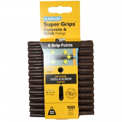 100 x Heavy Duty Brown Supergrips Clip Pack