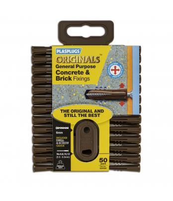 50 x Original Regular Duty Concrete & Brick Fixings Clip Pack