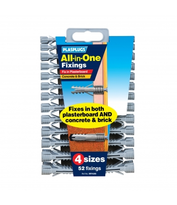 52 x All-in-One Multipurpose Fixings Clip Pack