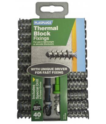 40 x Thermal Block Fixings