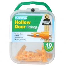 10 x Hollow Door Regular Duty Fixings