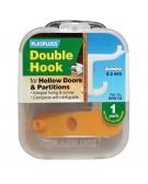 1 x Hollow Door Double Fixing Hook