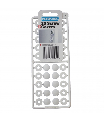 20 Screw Covers White
